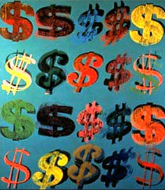DOLLAR Signs Andy Warhol, 1981