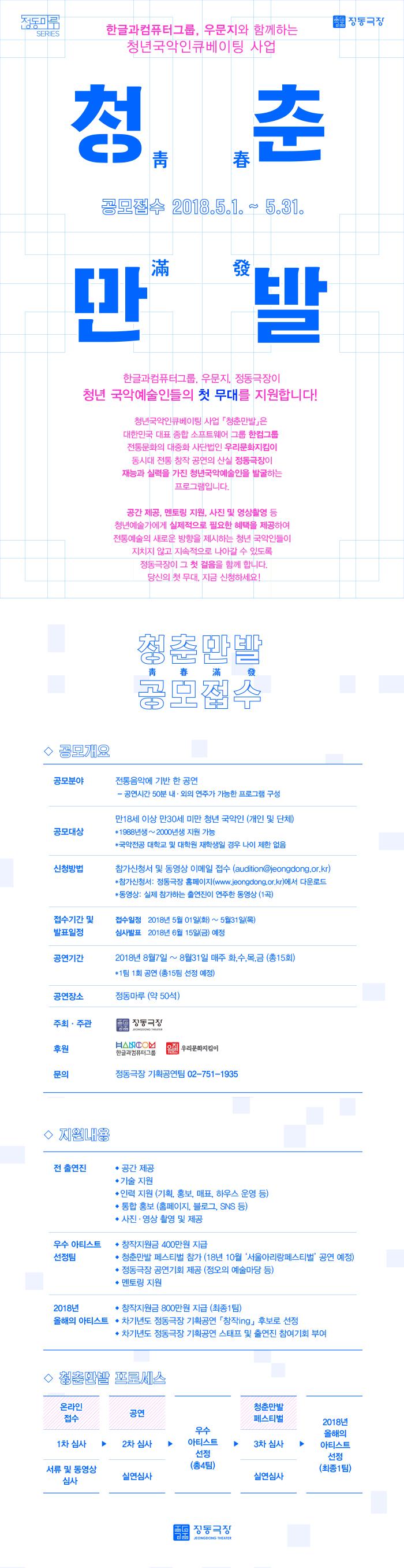 한글과컴퓨터그룹,우문지와 함께하는 청년국악인큐베이팅사업 <청춘만발> 참가작품 공모이미지1