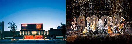 극단 사계의 전용극장(왼쪽)과 '캐츠' 공연(오른쪽)(사진출처: 극단사계 공식 홈페이지)