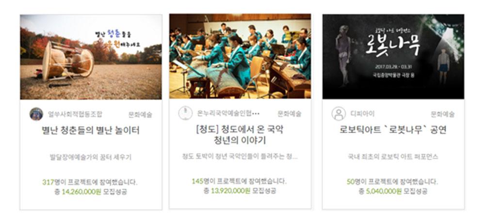 예술분야 후원형 크라우드펀딩 성공 사례ⓒ(주)오마이컴퍼니