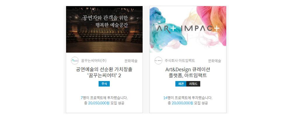예술 분야 증권형 크라우드펀딩 성공사례 ⓒ(주)오마이컴퍼니