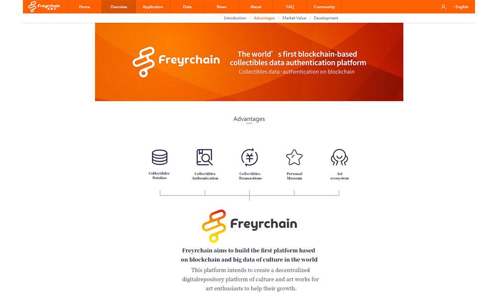 프레이체인(Freychain) 공식홈페이지 ⓒ Freychain