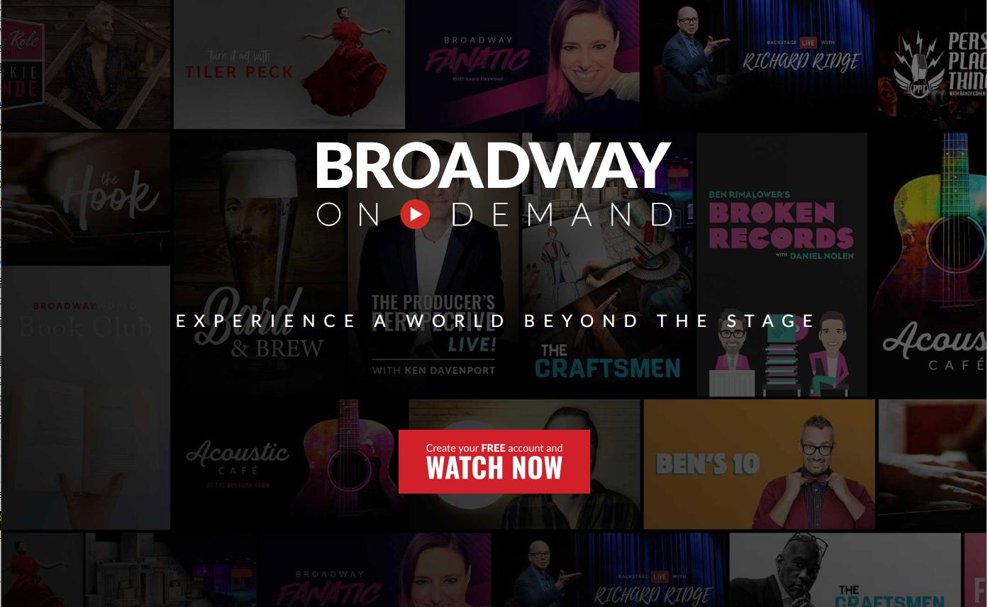 브로드웨이 온 디맨드 홈페이지 화면 출처:  브로드웨이 온 디맨드 홈페이지